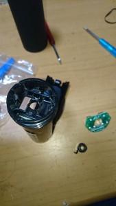 壊れたバッテリーケース
